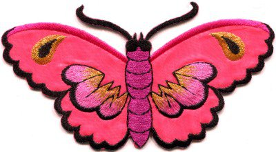 Butterfly insect boho hippie retro love peace applique iron-on patch S-458