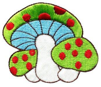 Mushroom boho hippie retro love peace weed trance applique iron-on patch S-72