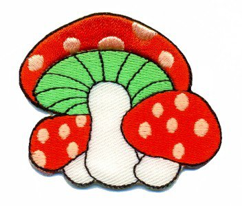 Mushroom boho 70s hippie retro love peace weed pot applique iron-on patch S-69
