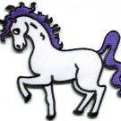 Unicorn fantasy retro fun applique iron-on patch S-219