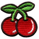 Cherry cherries fruit retro boho biker applique iron-on patch S-193