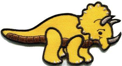 Triceratops dinosaur fun kids applique iron-on patch S-299