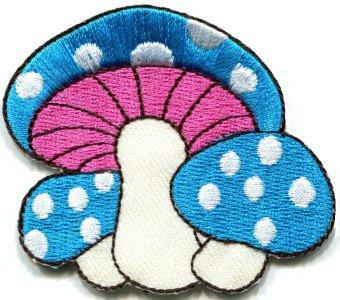Mushroom boho hippie retro love peace weed trance applique iron-on patch S-283