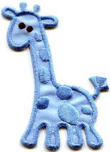 Giraffe baby animal wildlife kids applique iron-on patch S-311