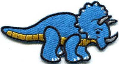 Triceratops dinosaur kids fun applique iron-on patch FREE SHIP, NO LIMIT! S-325