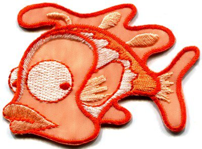Fish wildlife retro fun kids applique iron-on patch FREE SHIP, NO LIMIT! S-226