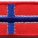 Flag of Norway Norwegian applique iron-on patch Small S-94