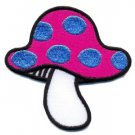 Mushroom boho 70s hippie retro love peace weed pot applique iron-on patch S-66