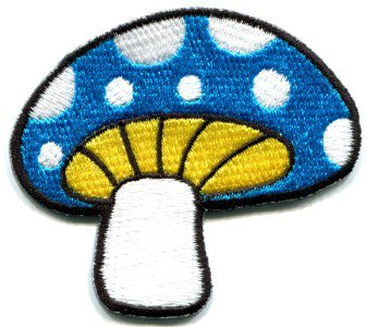 Mushroom boho hippie retro love peace weed trance applique iron-on patch S-75