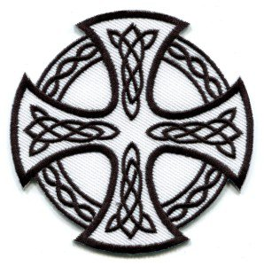 Celtic Cross Irish goth tattoo druids wicca pagan applique iron-on patch S-6