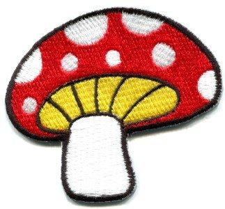 Mushroom boho 70s hippie retro love peace weed pot applique iron-on patch S-78