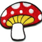 Mushroom boho 70s hippie retro love peace weed pot applique iron-on patch S-78