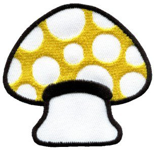 Mushroom boho hippie retro love peace weed trance applique iron-on patch S-61