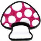 Mushroom boho hippie retro love peace weed trance applique iron-on patch S-64