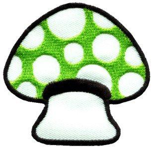 Mushroom boho hippie retro love peace weed trance applique iron-on patch S-62