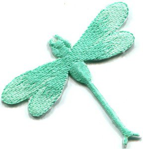 Dragonfly dragon fly insect fun retro sew sewing applique iron-on patch S-424