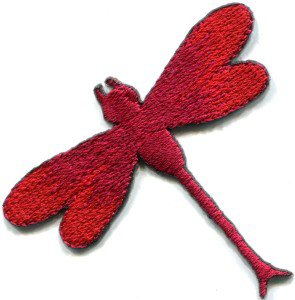 Dragonfly dragon fly insect fun retro sew sewing applique iron-on patch S-420