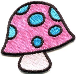 Mushroom boho hippie retro love peace weed trance applique iron-on patch S-428