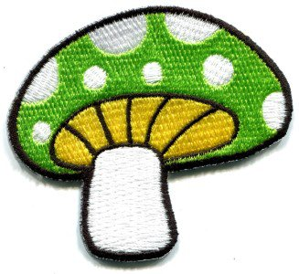 Mushroom boho hippie retro love peace weed trance applique iron-on patch S-76