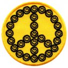 Smiley face peace sign hippie retro boho love weed applique iron-on patch S-24