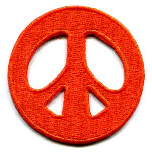 Peace sign hippie retro boho love weed applique iron-on patch S-17