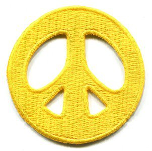 Peace sign hippie retro boho love weed applique iron-on patch S-19