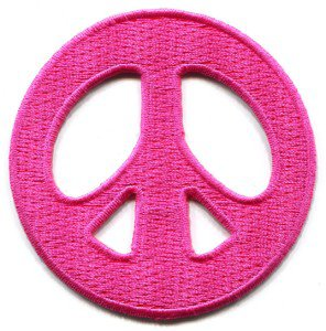 Peace sign hippie retro boho love weed applique iron-on patch S-20