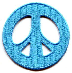 Peace sign hippie retro boho love weed embroidered applique iron-on patch S-16