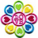 Flower power boho hippie retro love peace weed applique iron-on patch S-122
