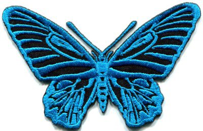 Butterfly insect boho hippie retro love peace applique iron-on patch S-174