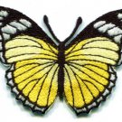 Butterfly yellow hippie retro boho embroidered applique iron-on patch S-161