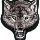 Gray wolf wolves canis lupus biker applique iron-on patch 3.5 X 4 inches S-395