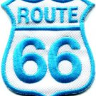 Route 66 retro muscle cars 60s americana USA applique iron-on patch S-276