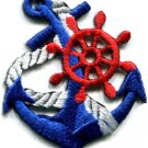 Anchor tattoo navy biker retro ship boat sea sew applique iron-on patch S-398