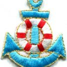Anchor tattoo navy biker retro ship boat sea sew applique iron-on patch S-406