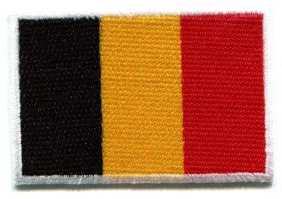 Flag of Belgium Belgian applique iron-on patch Medium S-99