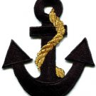 Anchor tattoo navy biker retro ship boat sea sew applique iron-on patch S-399