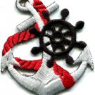 Anchor tattoo navy biker retro ship boat sea sew applique iron-on patch S-400