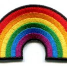 Gay pride lesbian rainbow flag retro love LGBT applique iron-on patch Small S-129