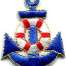 Anchor tattoo navy biker retro ship boat sea sew applique iron-on patch S-403