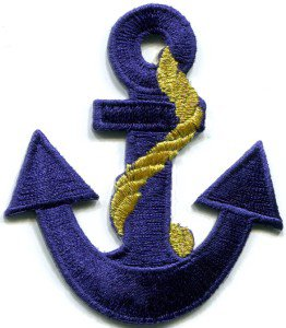 Anchor tattoo navy biker retro ship boat sea sew applique iron-on patch S-379