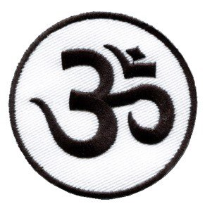 Aum om infinity hindu hindi hinduism yoga indian applique iron-on patch S-2
