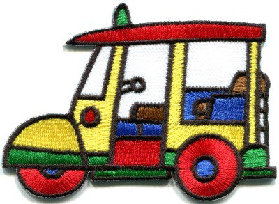 Tuk Tuk Bangkok Thailand Thai bus car motorcycle applique iron-on patch S-376