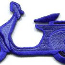 Motor scooter motorcycle cycle bike motorbike applique iron-on patch S-375