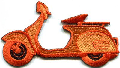 Motor scooter motorcycle cycle bike motorbike applique iron-on patch S-374