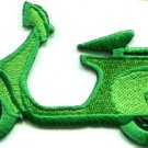 Motor scooter motorcycle cycle bike motorbike applique iron-on patch S-371