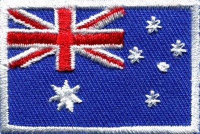 Flag of Australia Australian Oz Down Under applique iron-on patch Medium S-348