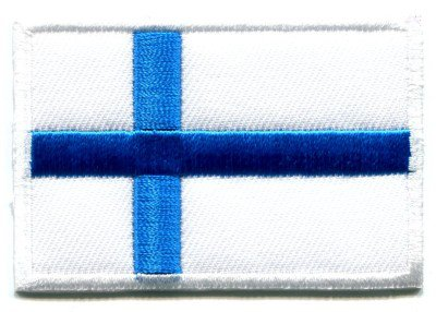 Flag of Finland Finnish embroidered iron-on patch S-95