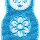 Russian matryoshka babushka babooshka nesting doll applique iron-on patch S-315