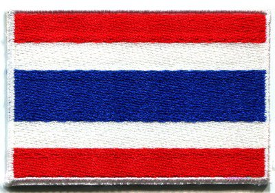 Flag of Thailand Thai applique iron-on patch Small S-106